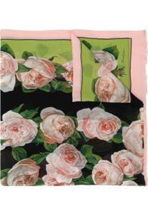 Dolce & Gabbana Cachecol Com Estampa De Rosa
