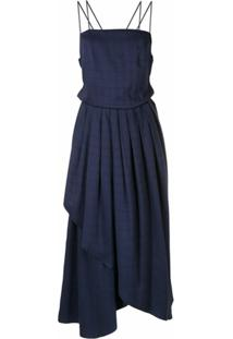 Neriage Vestido Midi Maresia - Azul