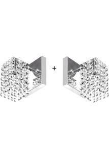 2 X Arandelas De Cristal Legitimo Clearcast A Mais Linda - Tricae