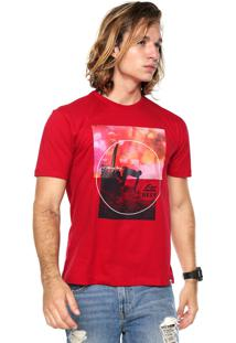 Camiseta Reef Framed Picture Vermelha