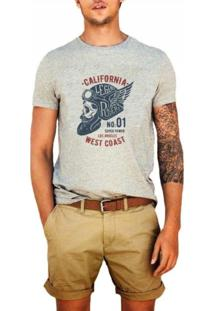 Camiseta Masculina Joss Califórnia West Coast Cinza