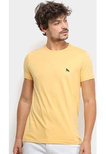 Camiseta Acostamento Lisa Masculina - Masculino-Amarelo