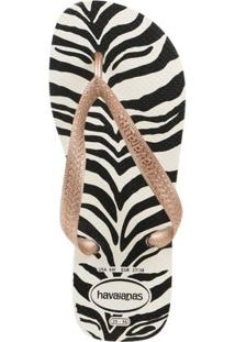 Chinelo Feminino Havaianas Top Animals Branco