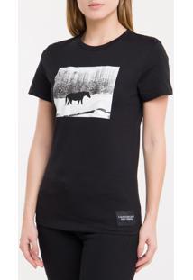 Blusa Ckj Fem Mc Andy Warhol Landscape - Preto - P
