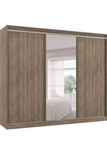 Guarda-Roupa Casal Com Espelho Atena 3 Pt 6 Gv Marrom