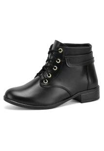 Bota Casual Sw Shoes Montaria Preto Verniz