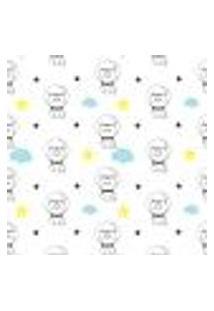 Papel De Parede Infantil Estrelas E Gatinhos 2,70X0,57M