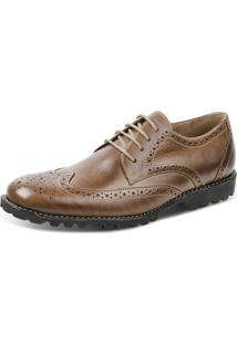 Sapato Social Oxford Sandro Moscoloni Brot Marrom Claro