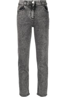 Balmain Calça Jeans Slim - Cinza