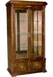 Cristaleira George Iv Vitrine 2 Portas Personalizado Madeira Maciça Detalhe Em Marchetaria Design Clássico
