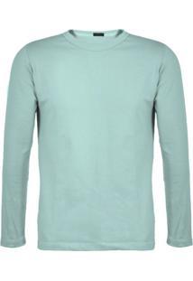 Camiseta Versatti Manga Longa Fram Azul Claro