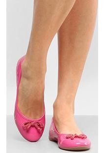 Sapatilha Drezzup Laço Trançado Feminino - Feminino-Pink