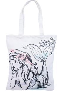 Bolsa Minas De Presentes Princesa Sereia Ariel Branca