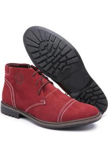 Bota Top Franca Shoes C/ Ziper Masculino - Masculino-Bordô