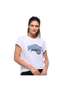 Camiseta New Era Orlando Magics College School Feminina - Branco