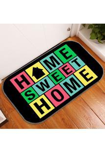 Tapete Decorativo Home Sweet Home Colorido ÚNico - Multicolorido - Dafiti