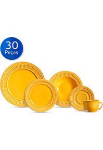 Aparelho De Jantar 30 Peças Poppy - Scalla - Amarelo