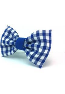 Gravata Borboleta Monsieur Papillon Tiunna Azul