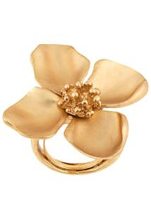Oscar De La Renta Anel Floral - Metálico