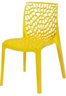 Cadeira Gruvyer Amarelo Or Design - Amarelo - Dafiti