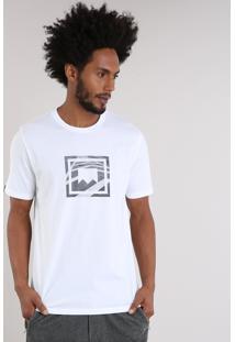Camiseta Masculina Lab Manga Curta Gola Careca Off White