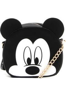 Bolsa Mickey Mouse Corrente Preta