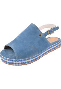 Sandália Uzze Sapatos Flatform Azul