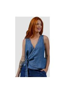 Blusa Zayon Jeans Trespasse Azul