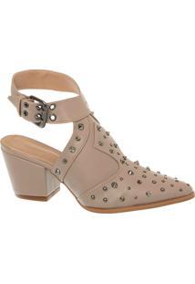 Sandal Boot Fendi Com Spikes E Cravos E Salto Bloco Alto