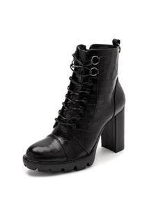 Bota Sandalo Feminina Clave De Fa Piaf Preto