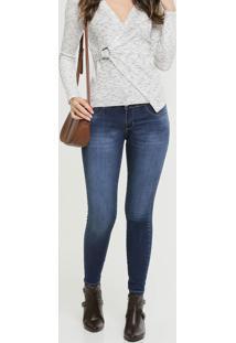 Calça Skinny Jeans Hot Pants Feminina Sawary