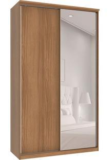 Guarda-Roupa Solteiro Com Espelho Premium Max 2 Pt 3 Gv Noce