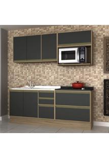 Cozinha Completa 5 Peças 6 Portas Safira Siena Móveis