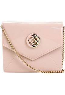 Bolsa Petite Jolie Mini Bag Flap Express Feminina - Feminino-Rosa Claro