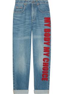 Gucci Calça Jeans My Body My Choice - Azul