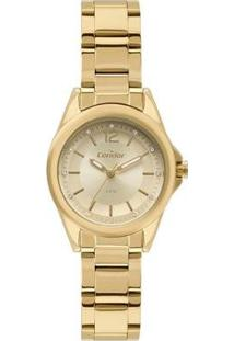 Relógio Condor Clássico Analógico Feminino - Feminino-Dourado