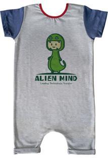 Pijama Curto Comfy Alien Mind Cinza