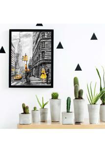 Quadro Decorativo Com Moldura Pintura Londres Preto - 20X25Cm - Multicolorido - Dafiti