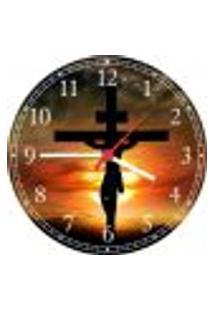 Relógio De Parede Jesus Cruz Religiosidade Catolicismo