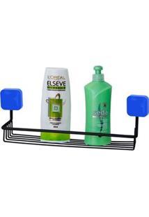 Porta Shampoo De Parede Metaltru Linha Pastilha Em Aço Com Termoplástico
