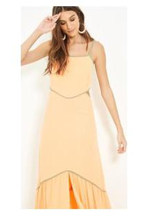 Vestido Vazado Bicolor #Joie Salmao