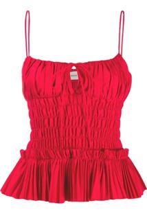 Khaite Blusa De Alcinha Franzida - Vermelho