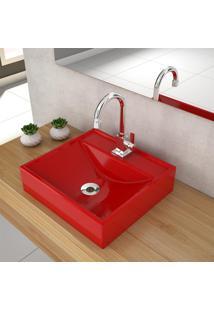 Cuba De Apoio Para Banheiro Compace Ravena Q39W Quadrada Vermelha