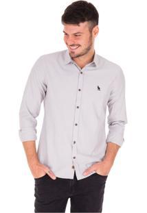 Camisa Manga Longa Side Walk Camisa Listra Fina Preto