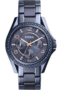 Relógio Fossil Feminino Riley - Es4294/4An Es4294/4An - Feminino-Azul