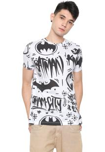Camiseta Sideway Dc Comics Batman Branca