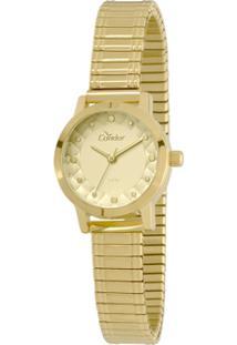 01af9a8269f8f Relógio Digital Condor Dourado feminino