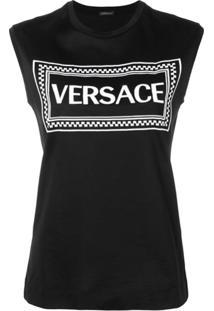 Versace Regata Com Logo Bordado - Preto