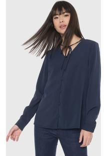 Camisa Malwee Mullet Azul-Marinho