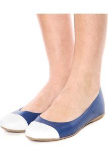 Sapatilha Bellysharm Recorte Azul-Marinho/Branca
